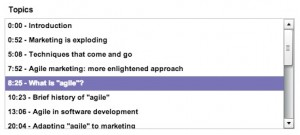 Topic List - Agile Marketing Presentation